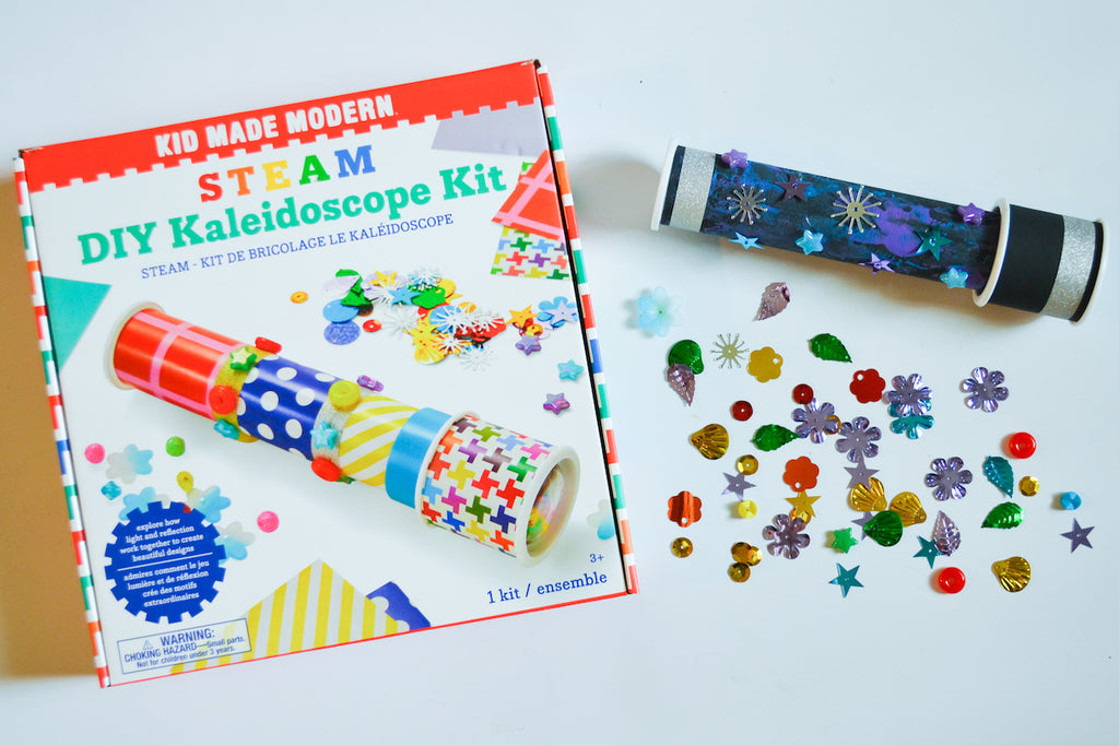 Kid Made Modern STEAM Stargazing Kaleidoscope Craft