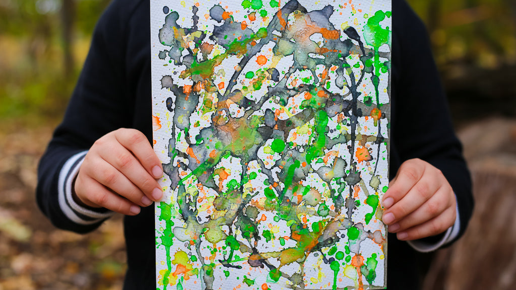 Pollock Inspired Action Painting