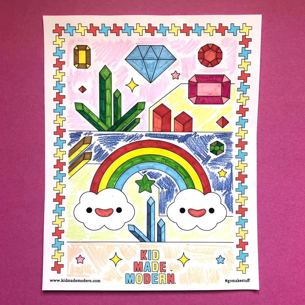 Free Printable Rainbow Coloring Page
