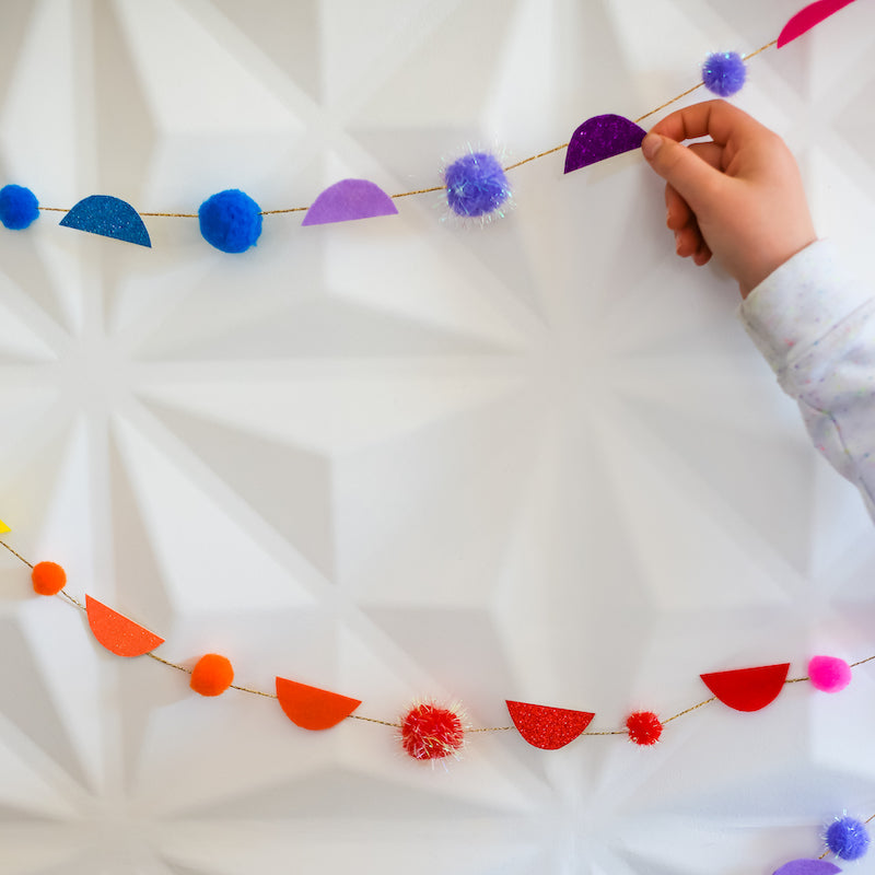 DIY Rainbow Garland
