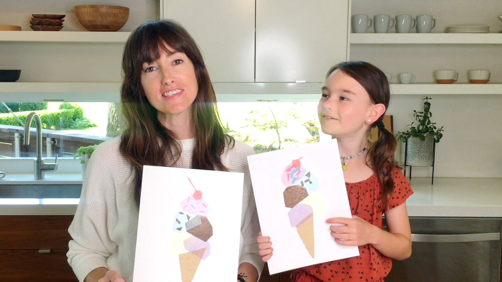 Make Your Own Ice Cream Cone Art with Tiny Fawn Prints