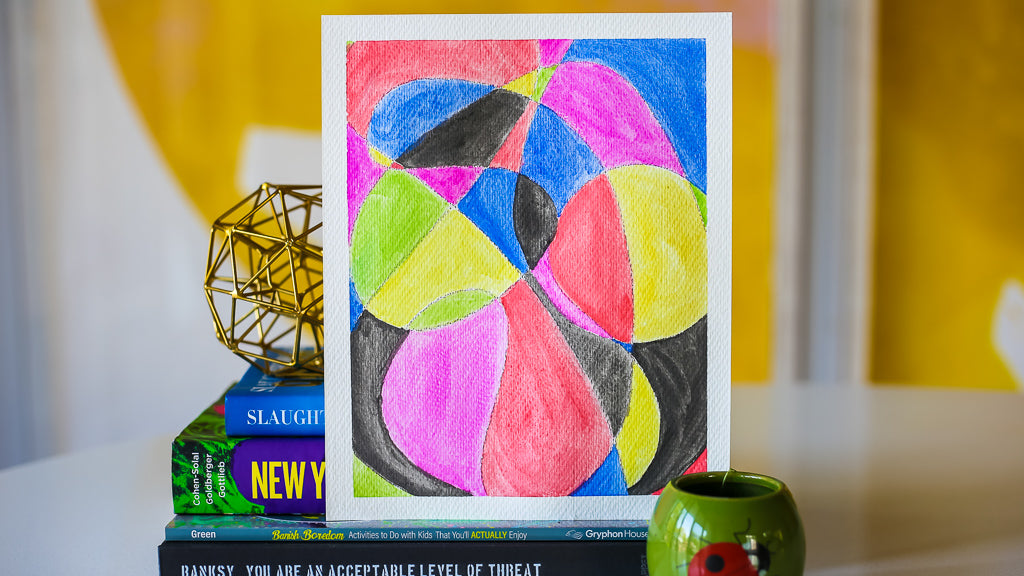 Scribble Watercolor Art DIY