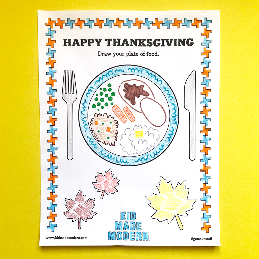 Thanksgiving Plate Printable