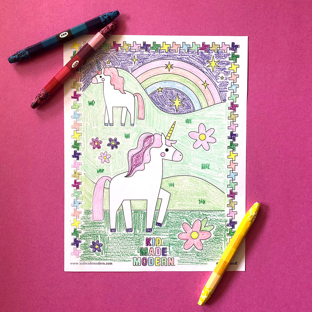 Free Printable Unicorn Coloring Page