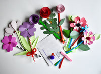 Valentine Flower Bouquets craft tutorial
