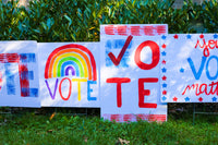 DIY Painted VOTE Yard Sign