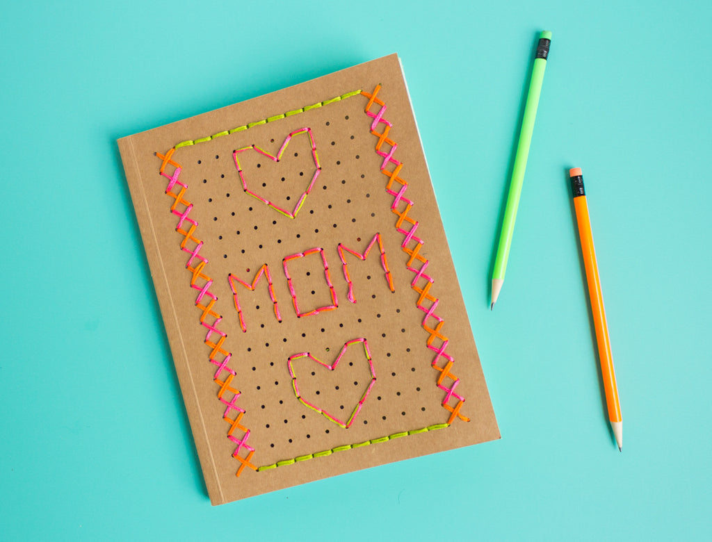 Mother's Day DIY: Embroidered Journal