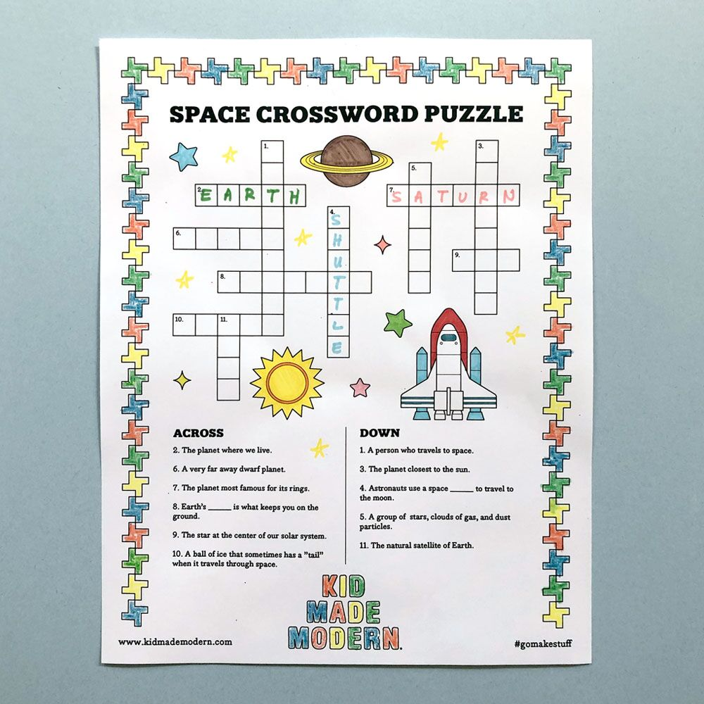Free Space Crossword Puzzle Printable