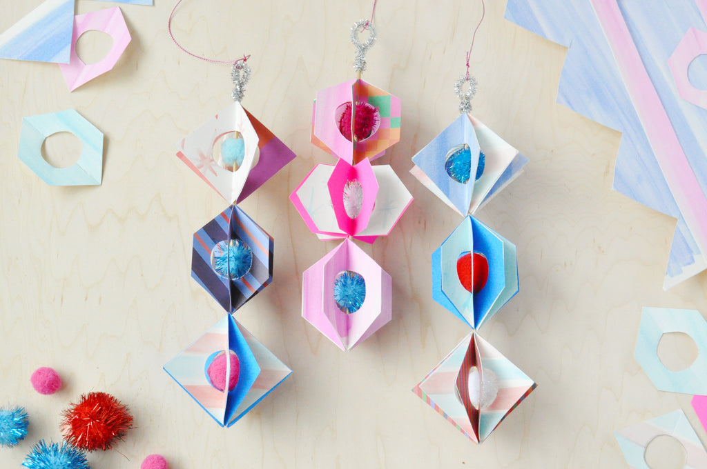 DIY Spinning Paper Ornaments