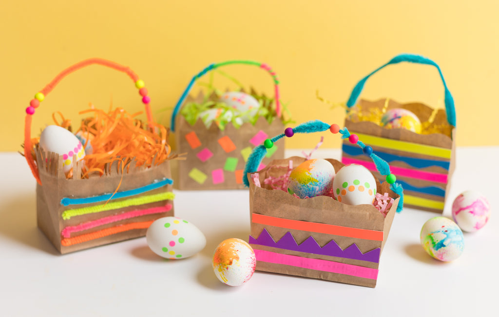 Make Your Own Paper Bag Easter Baskets