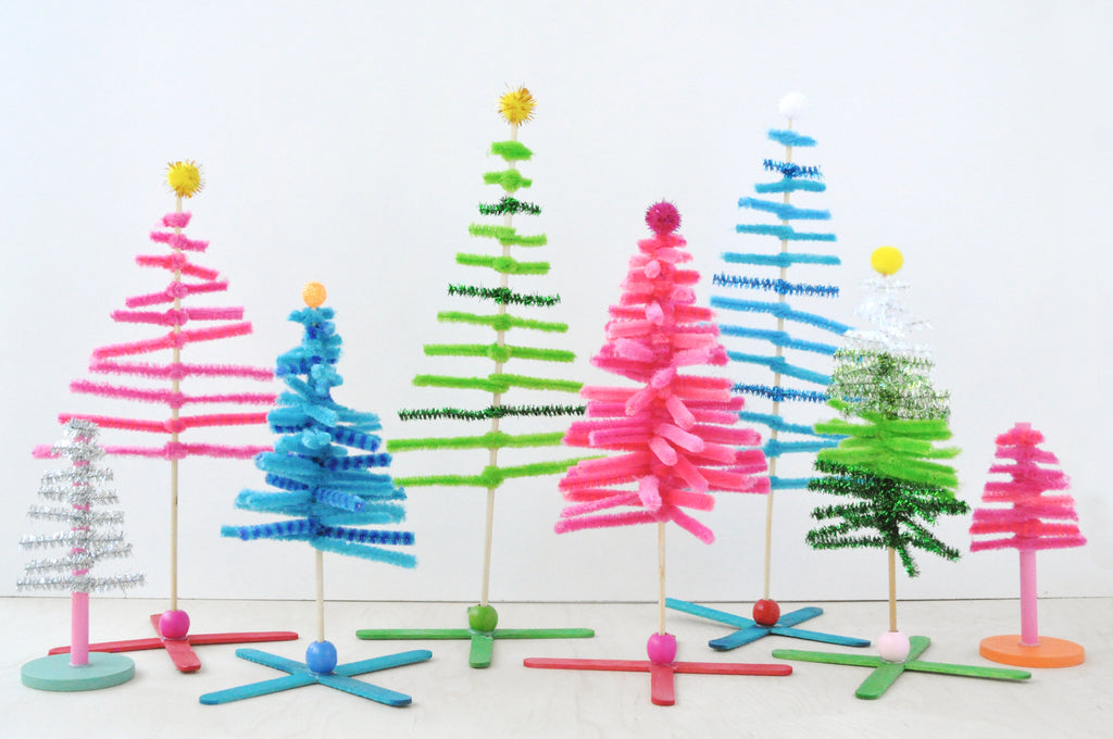 Pipe Cleaner Christmas Trees.Twist And Turn Pipe Cleaner Forest Kid Made Modern