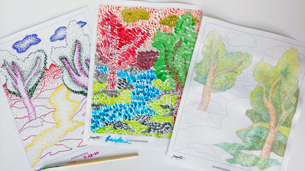 Art Lesson: Pointillism Art with Jeanetta Gonzales