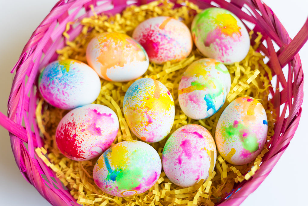 Easter Egg Spray Painting Project