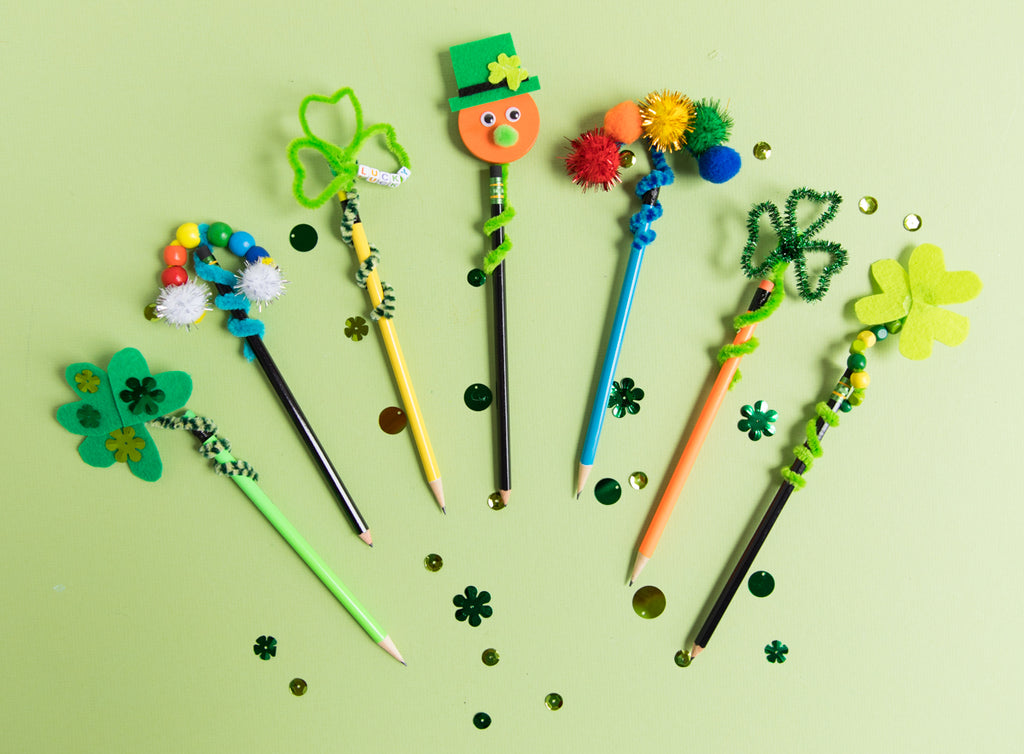 DIY: St Patrick's Day Pencil Toppers