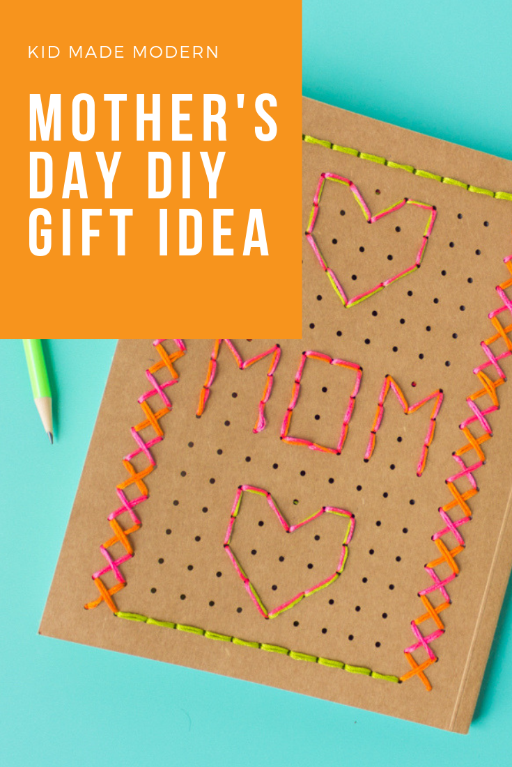 Mother's Day DIY Embroidered Notebook Pinterest