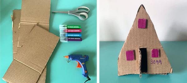 Cardboard houses inspired by Kambel Smith