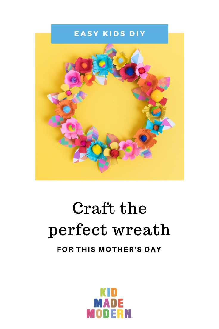 Upcycled DIY mothers day wreath
