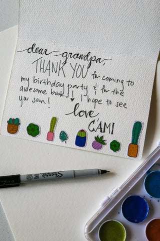 DIY Thank You Cards Step 4