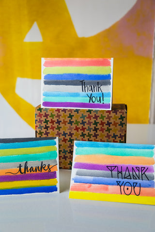 DIY Thank You Cards Done