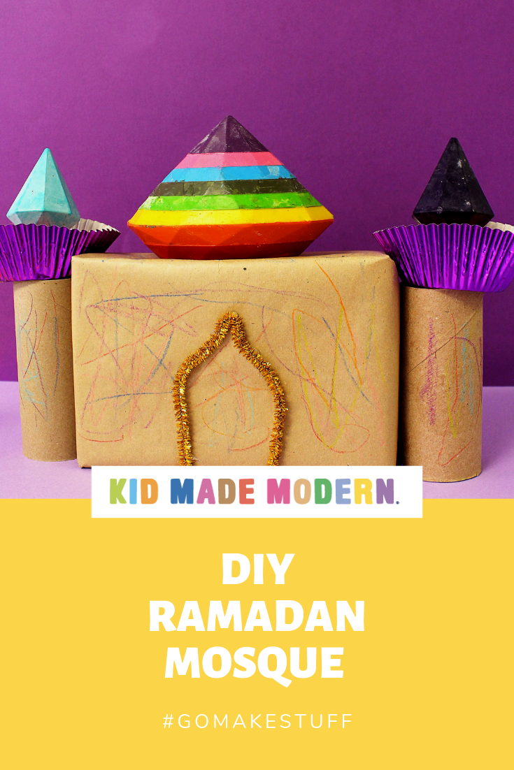 DIY Ramadan Crayon Mosque with Kid Made Modern