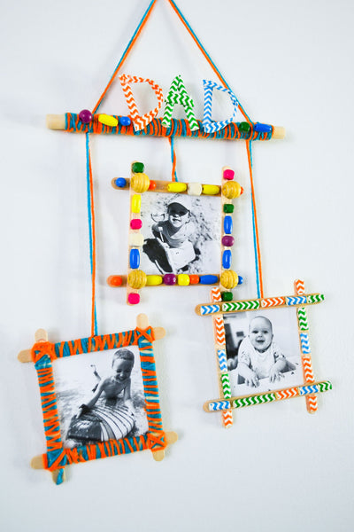 Kid Made Modern Fathers Day Photo Wall Hanging
