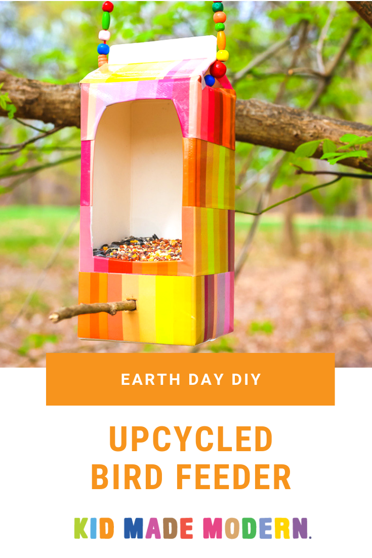 Upcycled Bird Feeder DIY for Earth Day