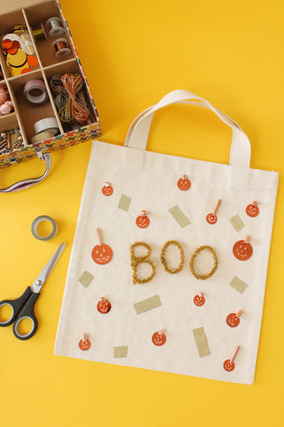 Metal Mashup Halloween Tote Step 4