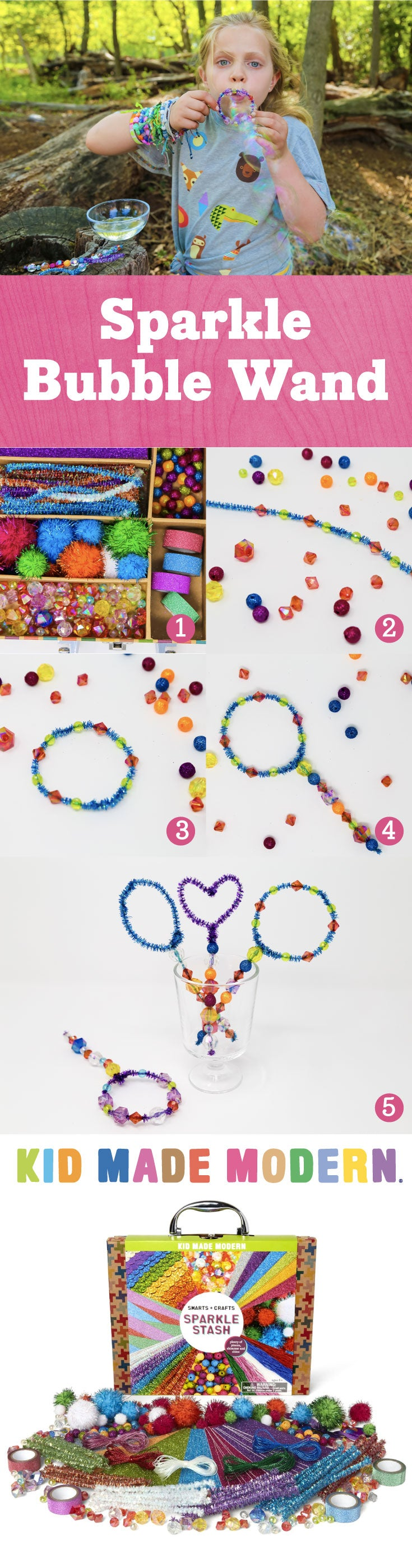Sparkle Bubble Wand Pinterest