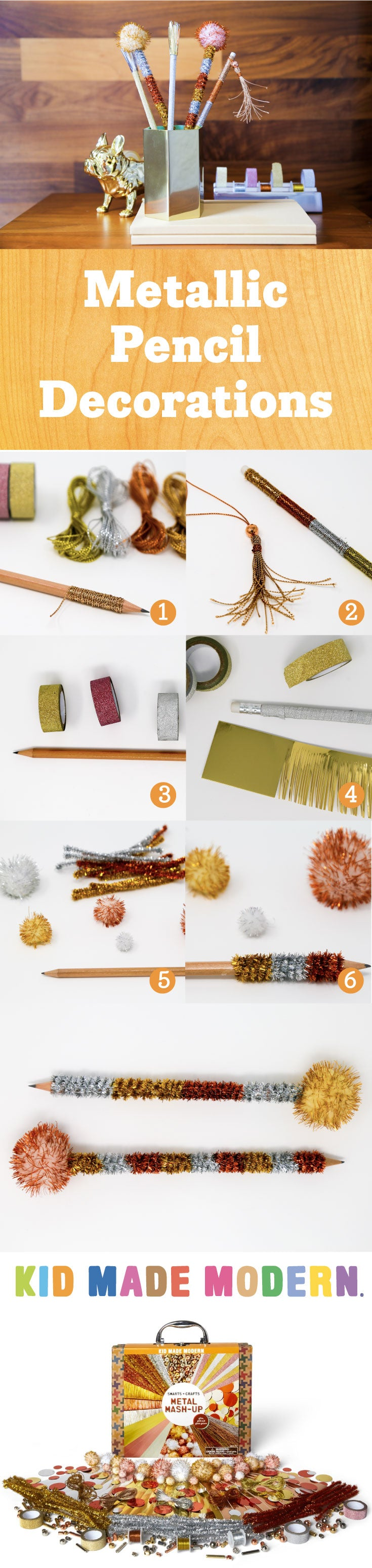 Metallic Pencil Decorations Pinterest