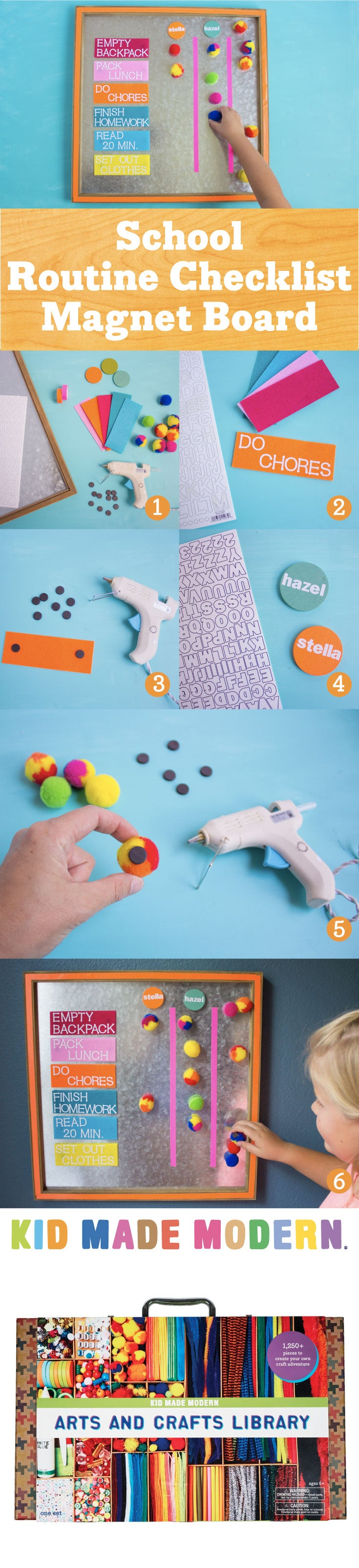 Magnetic After School Checklist Pinterest