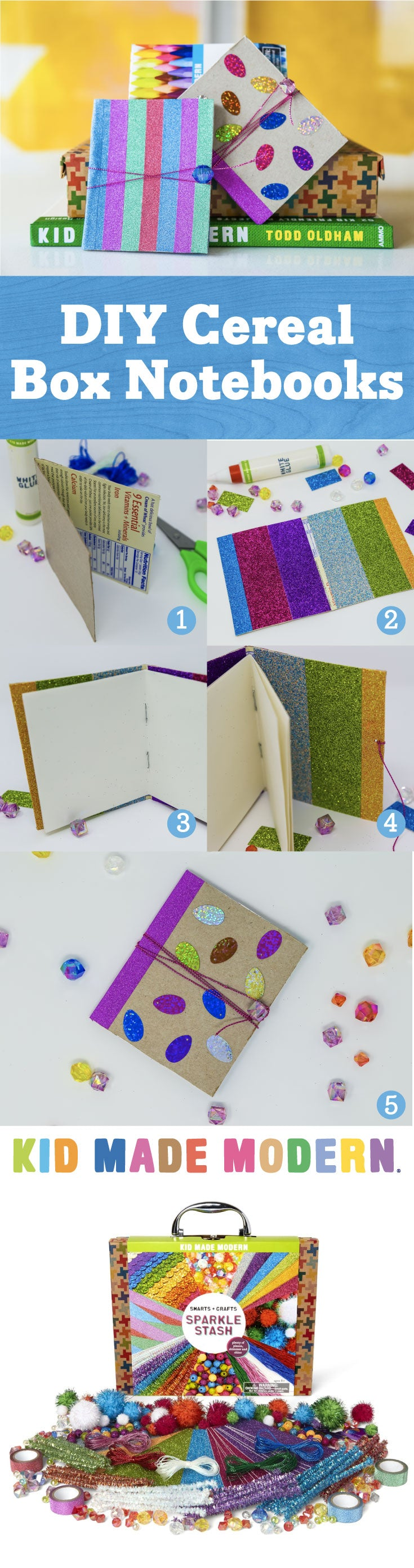 cereal box notebooks Pinterest