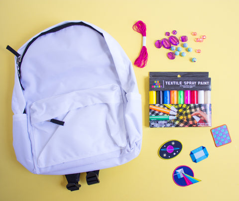 DIY Spray Painted Backpack Materials