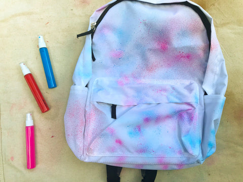 DIY Spray Painted Backpack Step 1