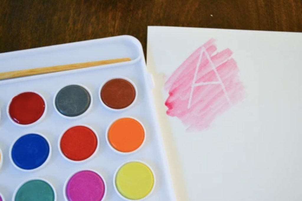 Magic Watercolor Letters and Number Activity