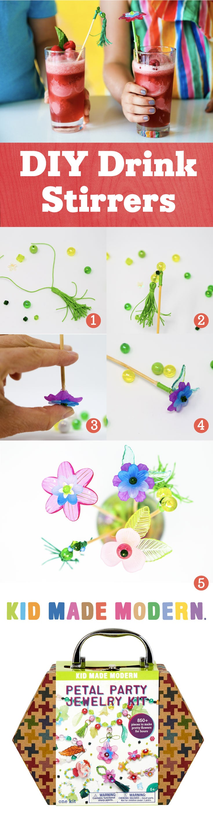 DIY Drink Stirrers Pinterest