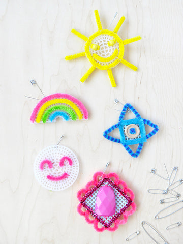 Pipe Cleaner Embroidery Badges