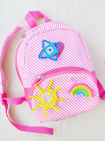 Pipe Cleaner Embroidery Backpack