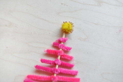 Pipe cleaner forest step 5