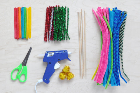 Pipe cleaner forest supplies