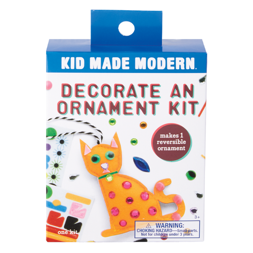 Decorate a Cat Ornament Kit 815219024866 $4.99 Kits Kid Made Modern $4.99