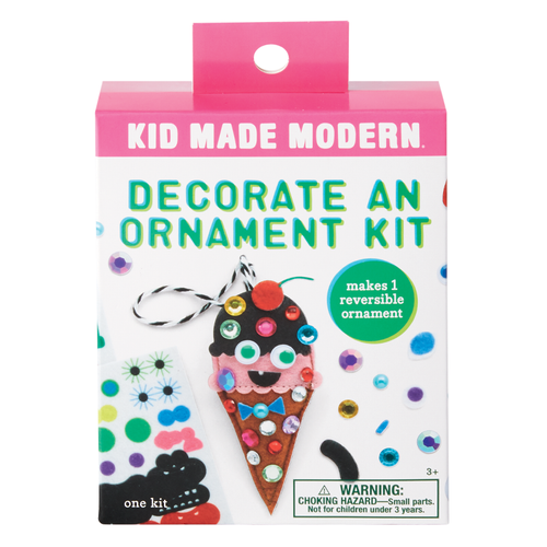 Decorate an Ice Cream Cone Ornament Kit 815219024873 $4.99 Kits Kid Made Modern $4.99