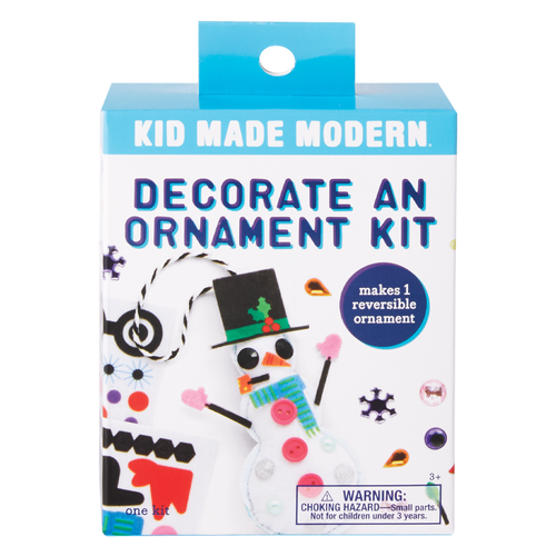 Decorate a Snowman Ornament Kit 815219024910 $4.99 Kits Kid Made Modern $4.99