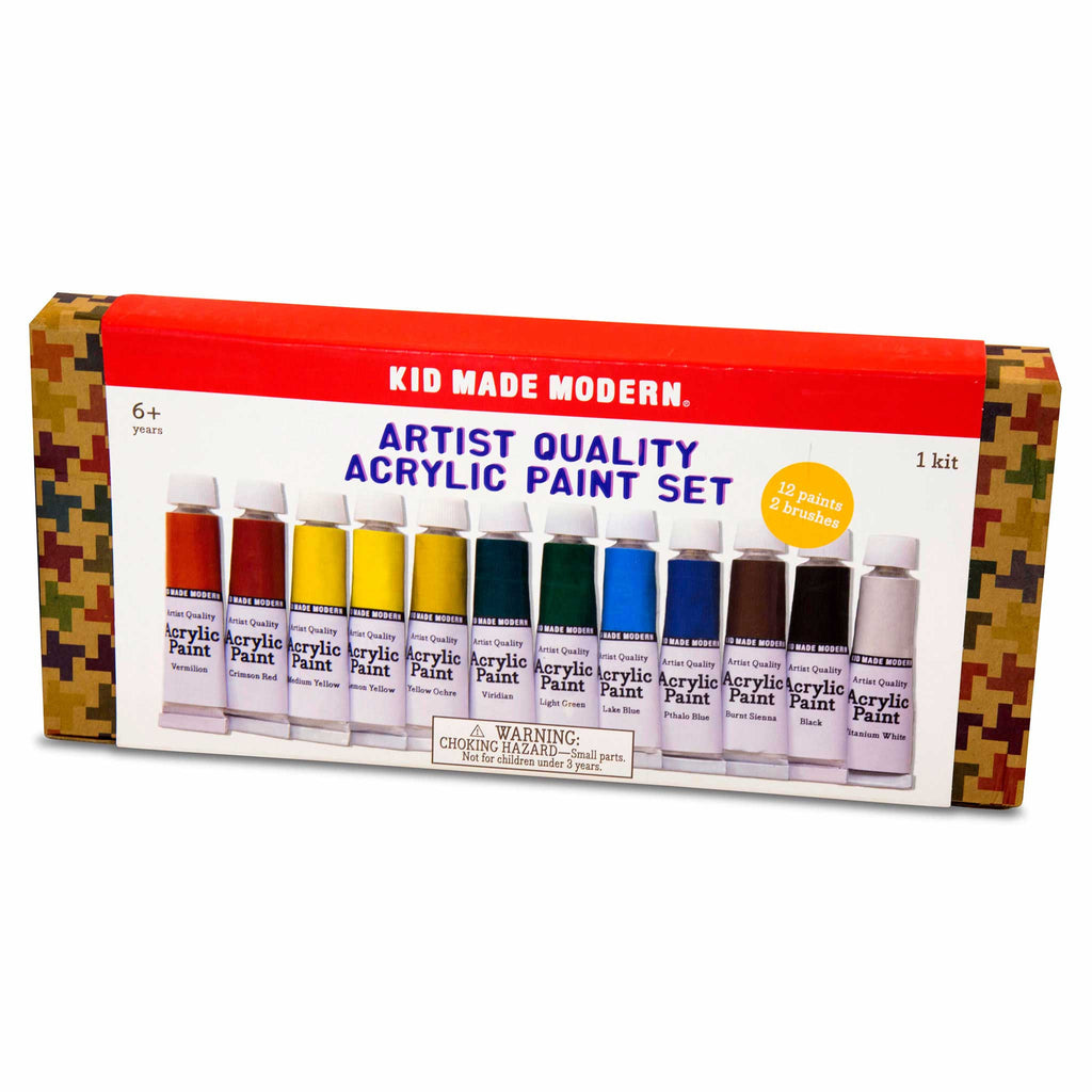 Artist Quality Acrylic Paint Set for Kids Arts and Crafts in package