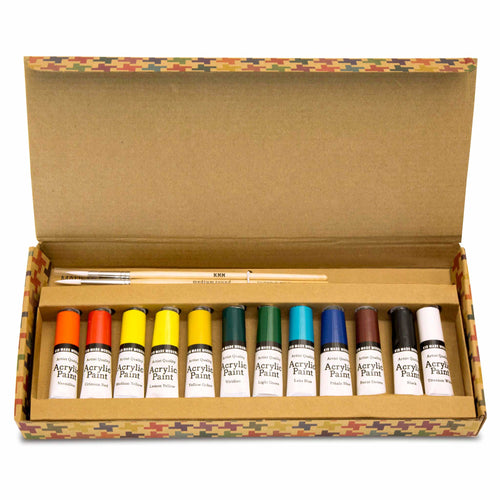 Artist Quality Acrylic Paint Set 851224006329 $12.99 acrylic, acrylic paint set, artist quality acrylic paint set, arts and crafts, gift, kid made modern, paint brush, paint colors, paint set, paints Paint Kid Made Modern $12.99