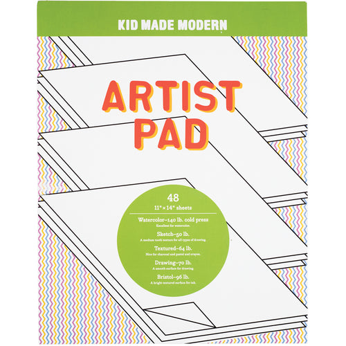 Artist Pad 851224006770 $7.99 art papers, artist pad, Artist paper, artist paper pad, arts and crafts, drawing, drawing paper, gift, medium tooth, paper, paper sheets Paper Kid Made Modern $9.99