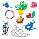 Kids Arts and Crafts Project Supply Kit Crafted Critters