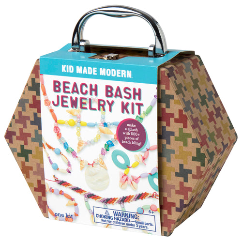 Beach Bash Jewelry Making Kit 815219022275 $14.99 art kits, art supplies, arts and crafts, beach bash jewelry, beads, bracelet, christmas crafts, cool diy ideas, craft case, craft idea, craft kit, craft kit ideas, craft projects, creative, fashionable, fun easy diy crafts, gift, hemp cords, jewelry, jewelry kit, kid made modern, kids craft ideas, kit, necklace, seashells, shells Kits Kid Made Modern $14.99