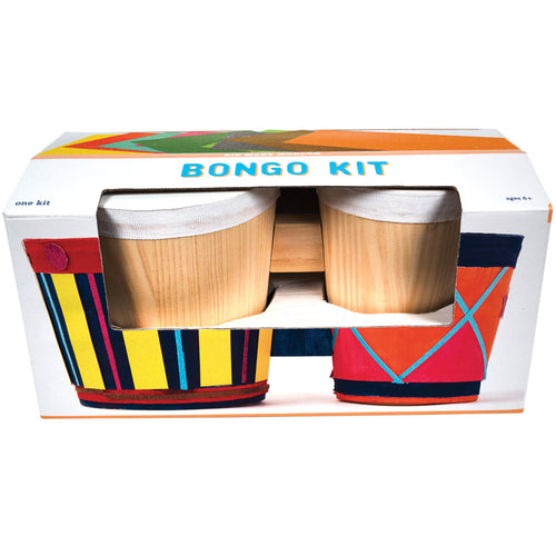 Bongo Craft Kit 851224006312 $29.99 acrylic paints, art kits, art supplies, arts and crafts, bongo, bongo kit, christmas crafts, cool diy ideas, craft case, craft idea, craft kit, craft kit ideas, craft projects, creative, drum, fun easy diy crafts, gift, kid made modern, kids craft ideas, kit, music, music and art kit, sponge brush, stencils, sticker sheets, wood bongo drum Kits Kid Made Modern $29.99