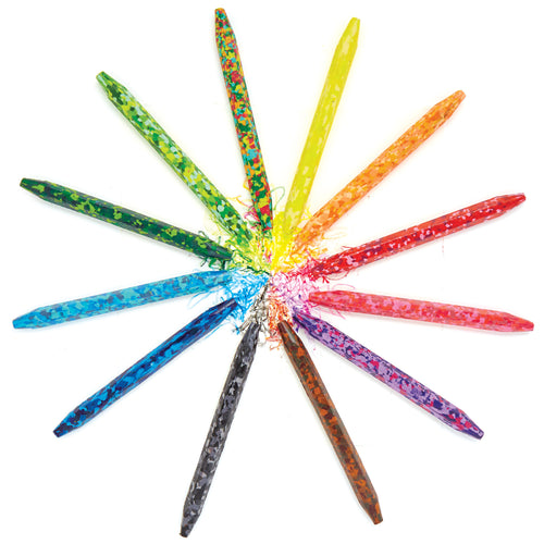 Confetti Crayons (Set of 12) 851224006572 $8.99 art supplies, art supplies kids, arts and crafts, bright, color, color palettes, colorful, coloring, colors, confetti, confetti crayons, crafts, crayons, fun, gift, gifts for kids, kid made modern, kids, kids coloring, kids crafts, rainbow Crayons Kid Made Modern $8.99