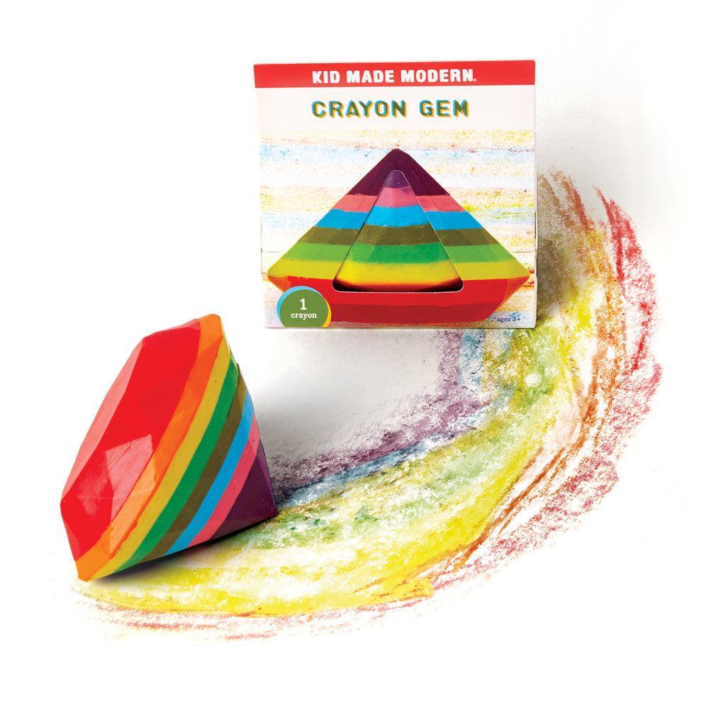 Kids Arts and Crafts Fun Colorful Crayon Gem